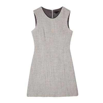 tweed sleeveless dress